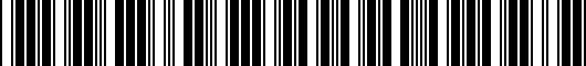 Barcode for 1KM071926DSP