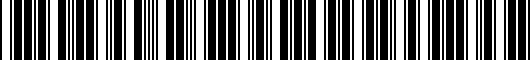 Barcode for 5C5071498AX1