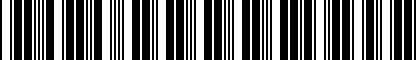 Barcode for DRG000018